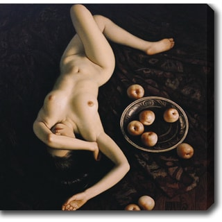 Nude Woman and Fruits' Oil on Canvas Art