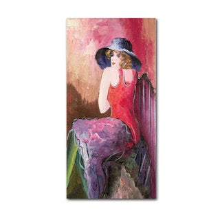 Rosario Tapia 'Woman with Blue Hat' Canvas Art