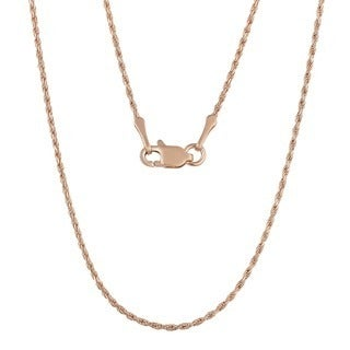 Fremada 14k Rose Gold 1-mm Charming Rope Chain Necklace (16 - 24 inches)