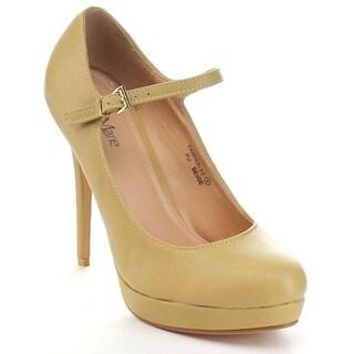Bellamarie Tamika-33 Women's Lovely Ankle Strap High Platform Pump Dress Shoes