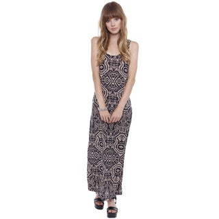 Beston Basics Junior's Boho Print Maxi Dress 67681