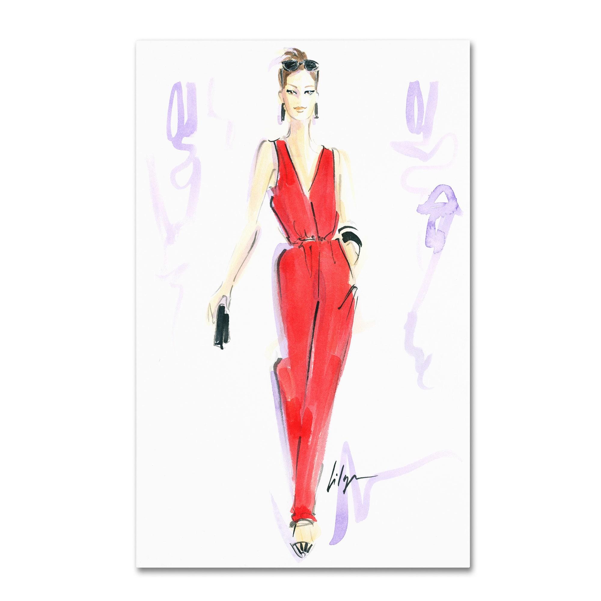 Jennifer Lilya 'Red Hot' Canvas Art (16 x 24 Wrapped Canv...