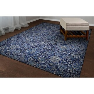 "Couristan Easton Winslet/Navy-Sapphire Area Rug - 5'3"" x 7'6"""