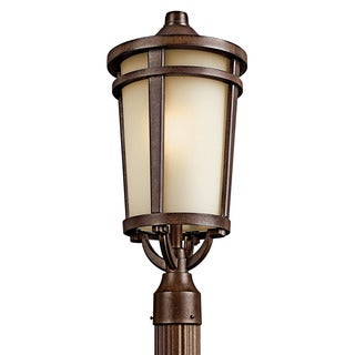 Kichler Lighting Atwood Collection 1-light Brown Stone Flourescent Outdoor Post Head