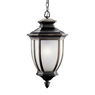 Kichler Lighting Salisbury Collection 1-light Rubbed Bronze Flourescent Outdoor Hanging Pendant