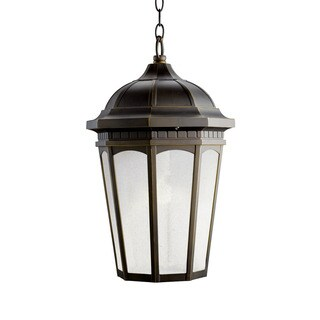 Kichler Lighting Courtyard Collection 1-light Rubbed Bronze Flourescent Outdoor Hanging Pendant