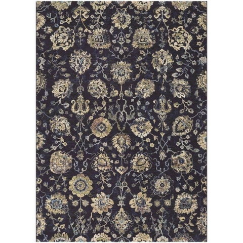 Couristan Easton Adaline/Navy-Cream Area Rug