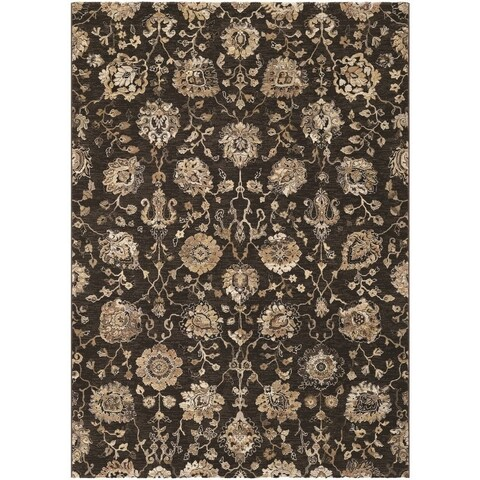 Couristan Easton Adaline/Espresso-Cream Area Rug