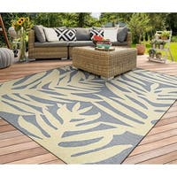 Couristan Covington Palms Azure Indoor/Outdoor Area Rug - 5'6 x 8'