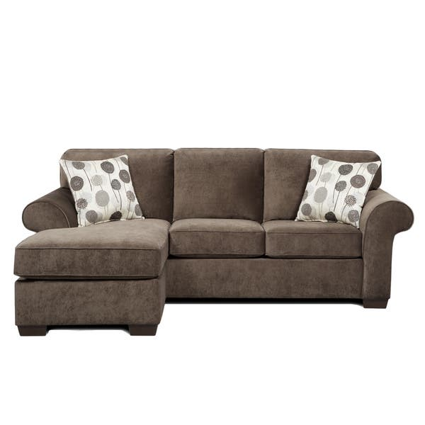 Fabric Sectional Sofa With 2 Pillows Elizabeth Ash Overstock 10437707