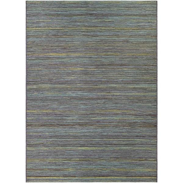 Couristan Cape Hinsdale Teal- Cobalt Indoor/Outdoor Rug - 6'6 x 9'6
