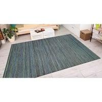 Vector Loft Blue Indoor/Outdoor Area Rug - 6'6 x 9'6