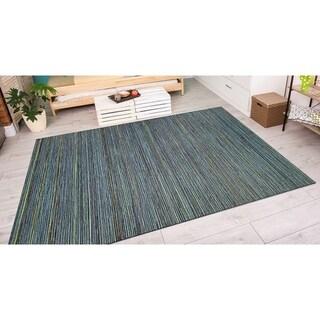 """Vector Loft Blue Indoor/Outdoor Area Rug - 5'3"""" x 7'6"""""""