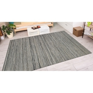 Couristan Cape Hinsdale/Light Brown-Silver Indoor/Outdoor Area Rug - 5'3 x 7'6