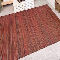 Vector Loft/ Crimson-Multi Indoor/Outdoor Area Rug - 6'6 x 9'6