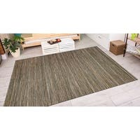 Couristan Cape Hinsdale Brown- Ivory Indoor/Outdoor Rug - 6'6 x 9'6