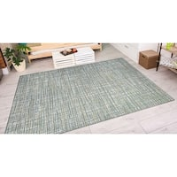 Couristan Cape Falmouth Ivory/ Hunter Indoor/Outdoor Area Rug - 5'3 x 7'6