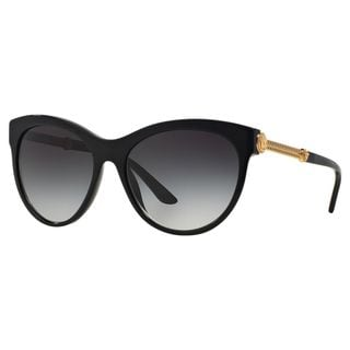 Versace Women's VE4292 GB1/8G Black Metal Phantos Sunglasses