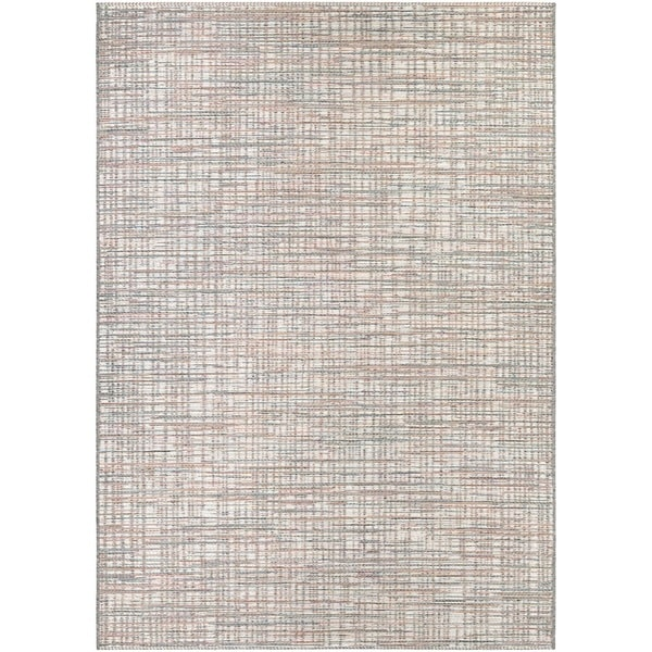 Couristan Cape Falmouth Ivory- Coral Indoor/Outdoor Rug - 6'6 x 9'6