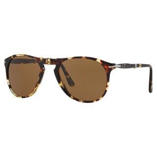 Persol Men's PO9714S Plastic Pilot Polarized Sunglasses