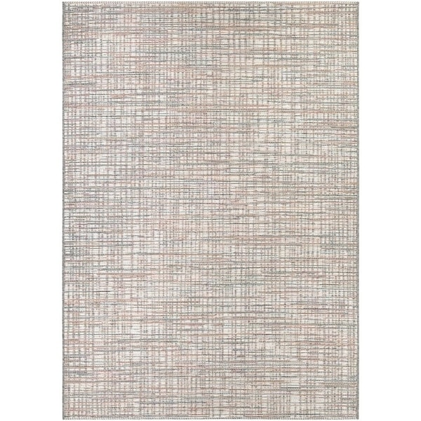 Couristan Cape Falmouth/Ivory-Coral Indoor/Outdoor Area Rug - 5'3 x 7'6
