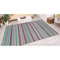 Vector Mendocino Purple-Multi Indoor/Outdoor Area Rug - 6'6 x 9'6