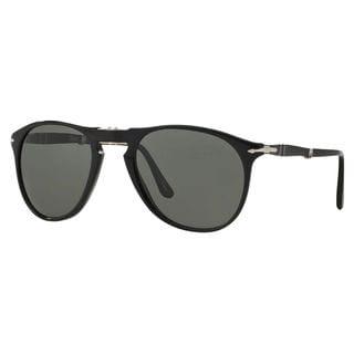 Persol Men's PO9714S Plastic Pilot Sunglasses