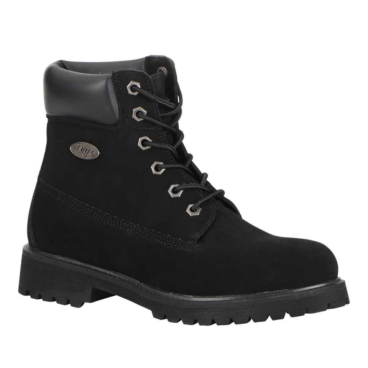 Lugz Women 'Convoy' Lace-up Boot (10), Black (leather)