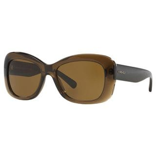Versace Women's VE4287 Plastic Rectangle Sunglasses