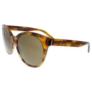 Versace Women's VE4286 Plastic Round Sunglasses