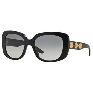 Versace Women's VE4284 GB1/11 Black Plastic Square Oversized Sunglasses