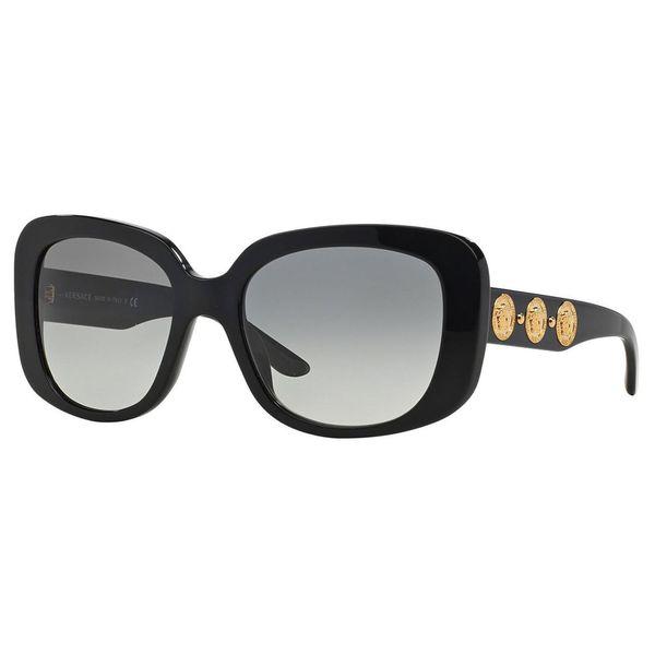 b99163882aca Versace Women's VE4284 GB1/11 Black Plastic Square Oversized Sunglasses