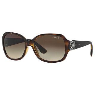 Vogue Women's VO2778SB Plastic Square Sunglasses