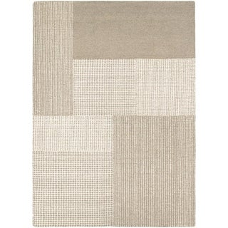Couristan Super Indo-Natural Joplin/Grey-Light Brown Wool Area Rug - 3'6 x 5'6