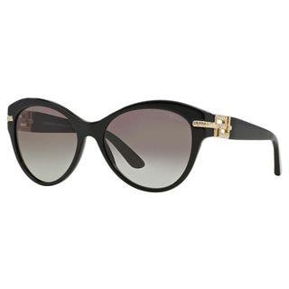 Versace Women's VE4283B GB1/11 Black Plastic Phantos Sunglasses