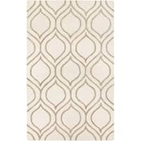 Couristan Super Indo-Natural Alba/Ivory-Grey Wool Area Rug - 3'6 x 5'6
