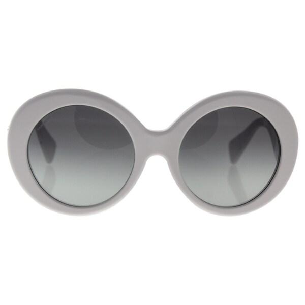 d84b287e6da4 Shop Versace Women s VE4298 Plastic Round Sunglasses - White - Free ...
