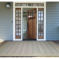 Couristan Monaco Bowline/Cocoa Natural-Ivory Indoor/Outdoor Area Rug - 3'9 x 5'5