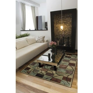 Nourison Expressions Brown Rug (3'6 x 5'6)