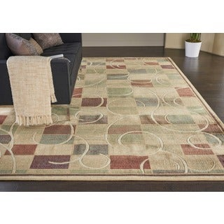 Nourison Expressions Beige Rug (7'9 x 10'10)