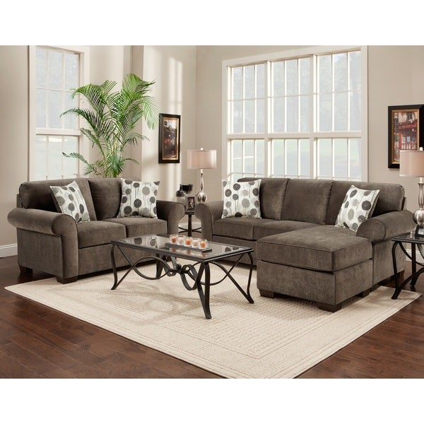 Fabric Sectional Sofa And Loveseat Set With Pillows Elizabeth Ash Free Shipping Today