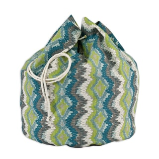 "Chino Frost Birch 20"" Round Laundry Bag with 8 1"" Grommets"