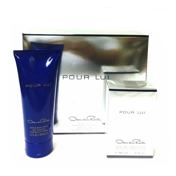 41f1b0e32 Shop Pour Lui By Oscar De La Renta for Men 2-piece Gift Set - Free Shipping  On Orders Over $45 - Overstock - 10438252