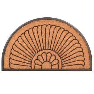 HomeTrax Designs Crescent Cocoa Mat 24-inch x 39-inch