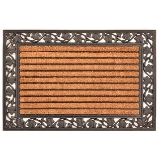 HomeTrax Designs Ivy Leaf Cocoa Mat 24-inch x 36-inch