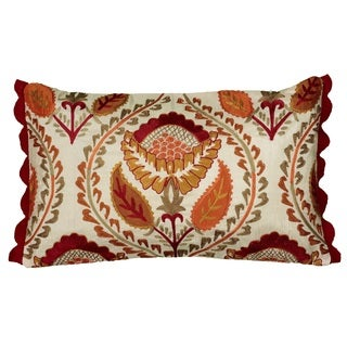 Rizzy Home Botanical Design Accent Pillow