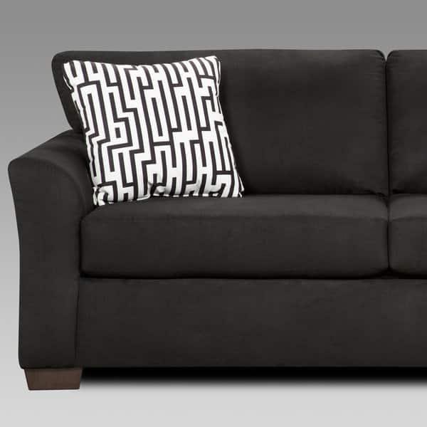 Fabulous Shop Mazemic Black Microfiber 2 Seater Sofa And Loveseat Set Machost Co Dining Chair Design Ideas Machostcouk