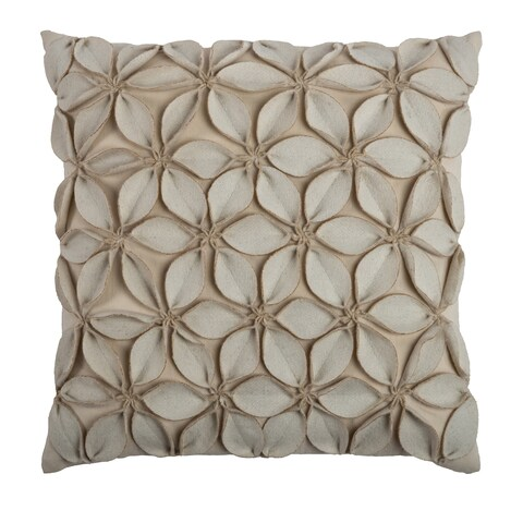 Rizzy Home Solid 18x18 Decorative Throw Pillow