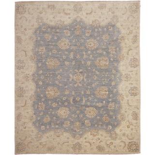 Hand-knotted Peshawar Sanaa Grey Rug (8'4 x 9'9)