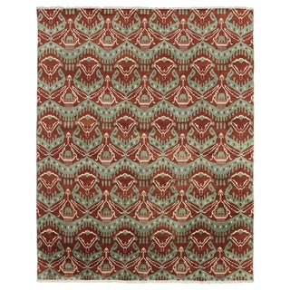 Hand-knotted Isa Rust Rug (9' x 11'8)